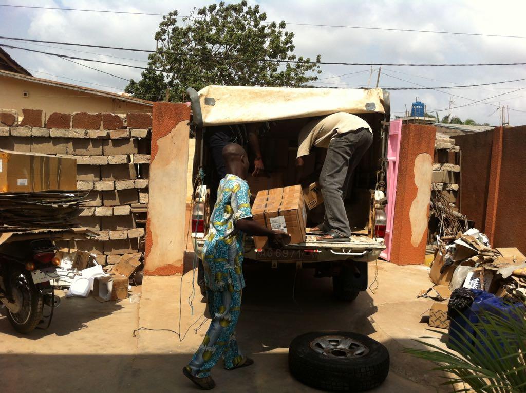 Collecte et envoi de conteneur au Bénin