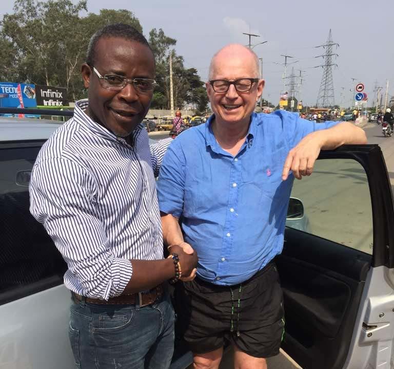 Visite du président d'honneur Dr. med. Rolf Peter Lindner au centre de santé de l'association humanitaire Espoir d'Afrique au Bénin en février 2018